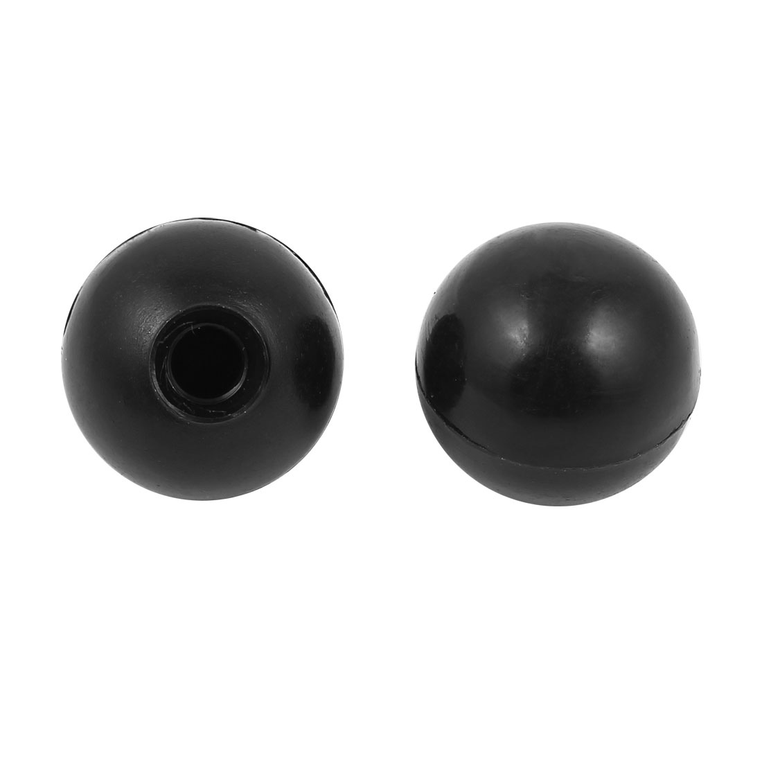 2 Pcs M8 x 30mm Plastic Ball Machine Tool Accessories Console Handle Black