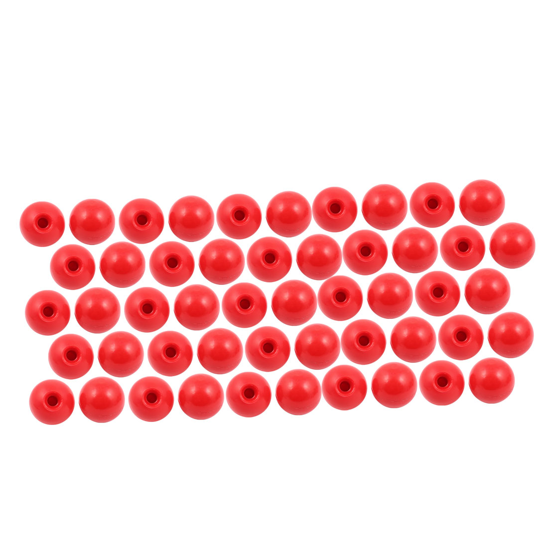 50 Pcs M10 x 40mm Plastic Ball Machine Tool Accessories Console Handle Red