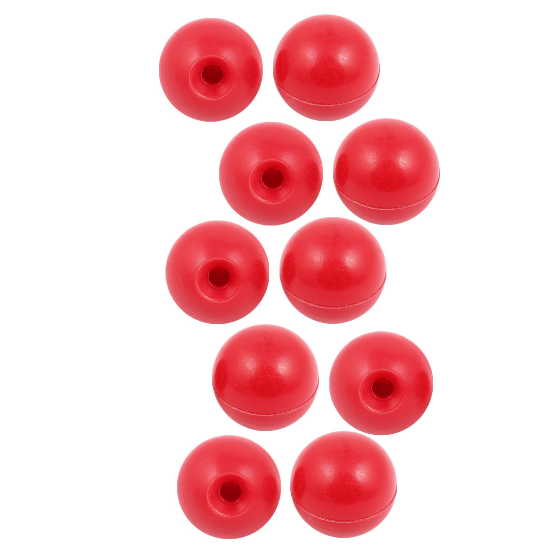10 Pcs M8 x 35mm Plastic Ball Machine Tool Accessories Console Handle Red