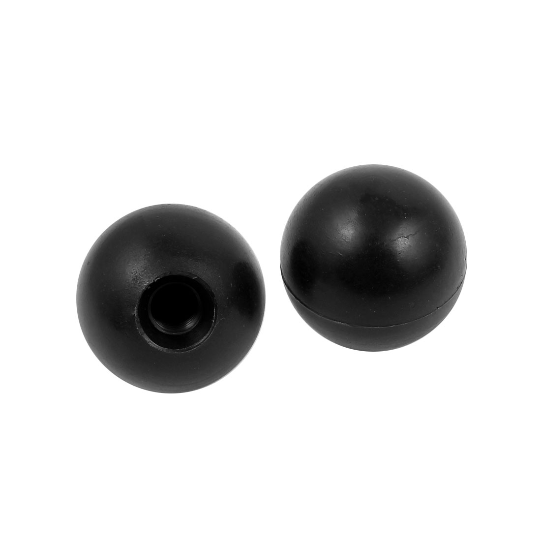 2 Pcs M10 x 35mm Plastic Ball Machine Tool Accessories Console Handle Black