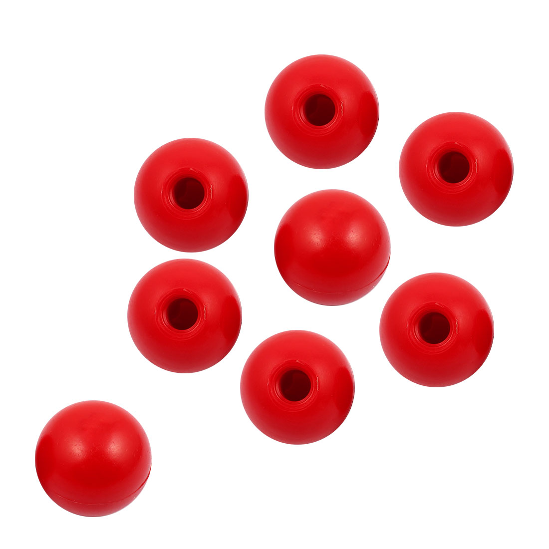 8 Pcs M12 x 40mm Plastic Ball Machine Tool Accessories Console Handle Red