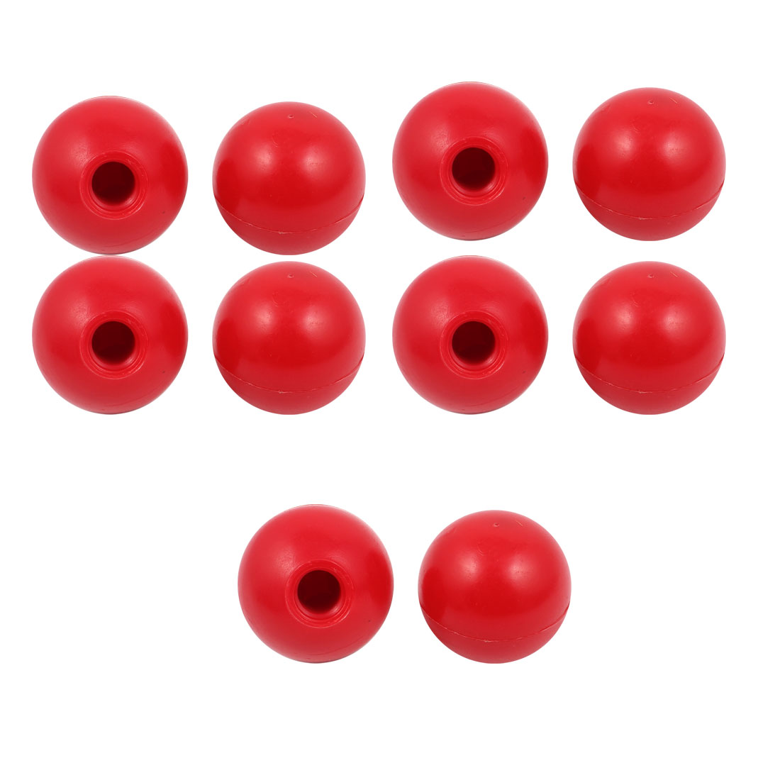 10 Pcs M12 x 40mm Plastic Ball Machine Tool Accessories Console Handle Red