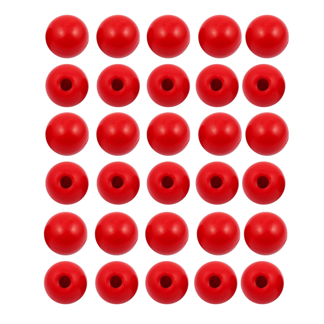 30 Pcs M12 x 40mm Plastic Ball Machine Tool Accessories Console Handle Red