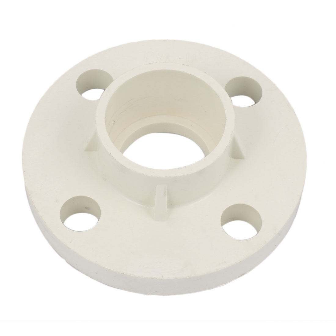50mm Dia Straight Flange Type PVC-U Pipe Connector Adapter Fitting White