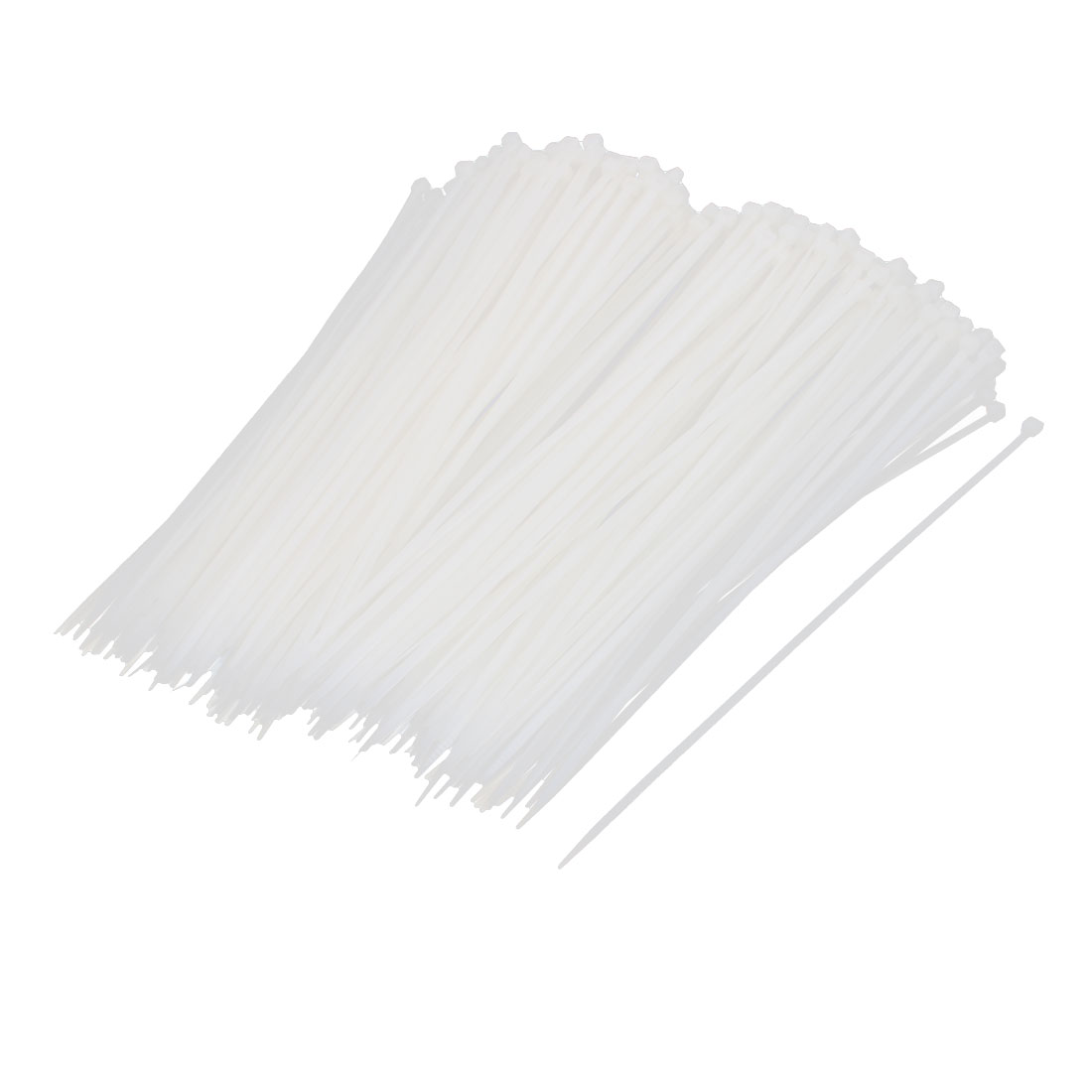 5mm x 250mm Self Locking Reusable Cable Zip Ties Beige 500pcs