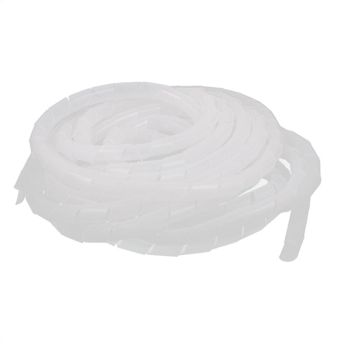 12mm Dia 7.5M Length Cable Wire Tidy Wrap Spiral Wrapping Band Organizer White