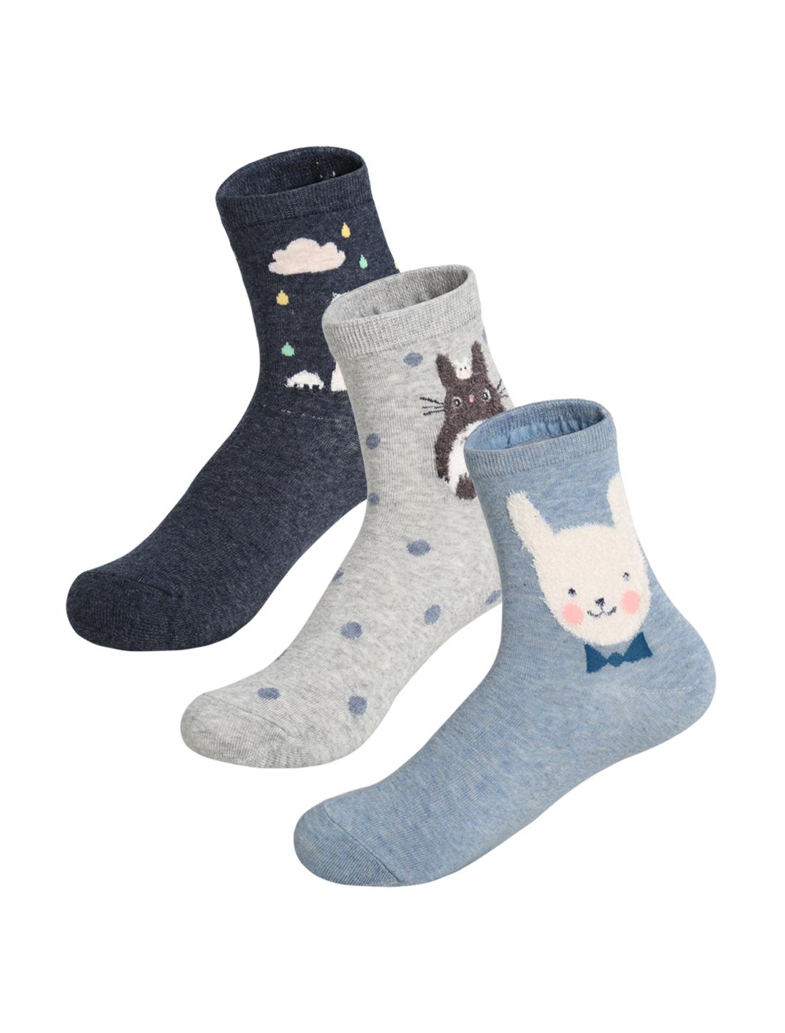 Women 3 pair Animal Novelty Pattern Crew Socks 9-11 Assorted-Novelty