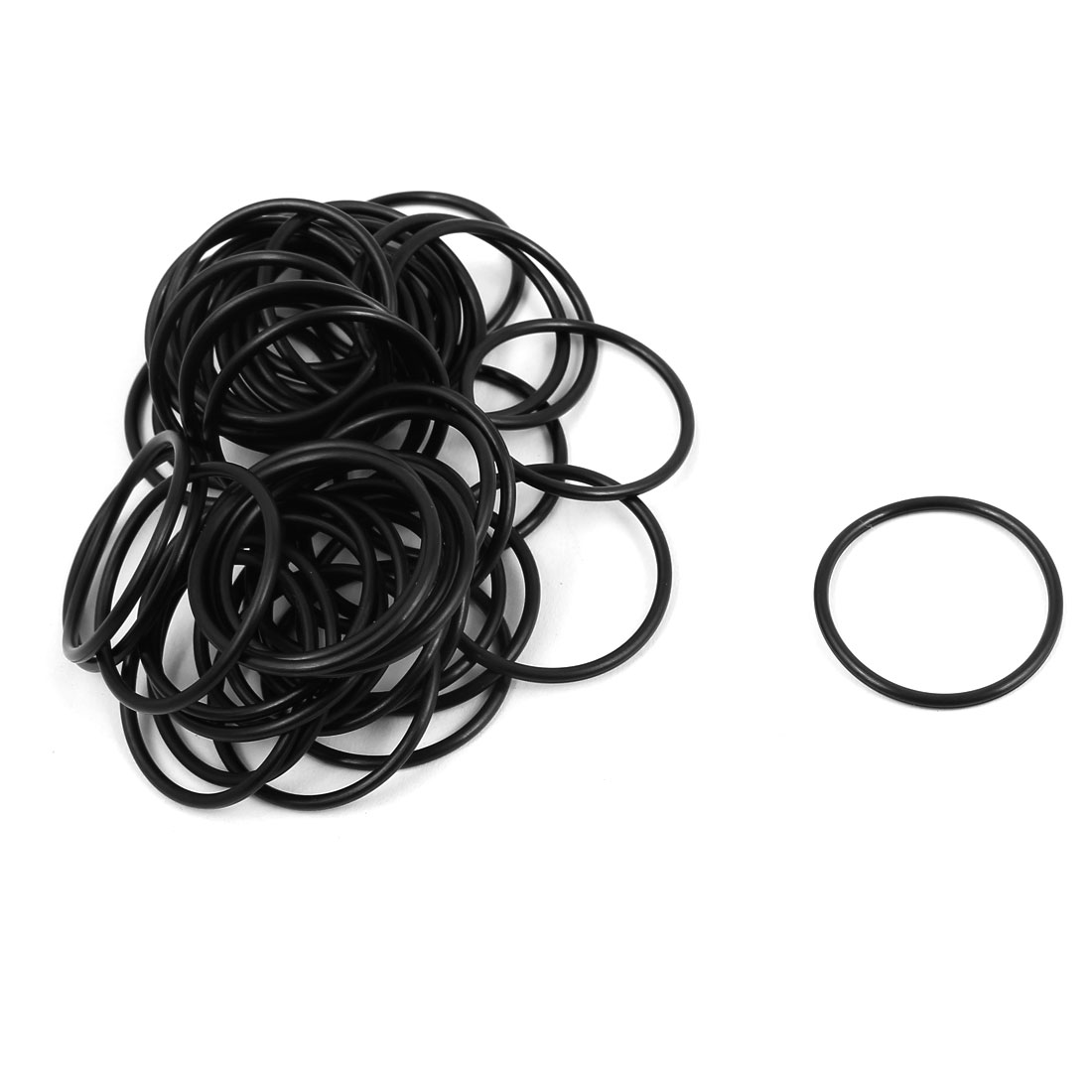 50 Pcs 25mm x 1.5mm Rubber O-rings NBR Heat Resistant Sealing Ring Grommets
