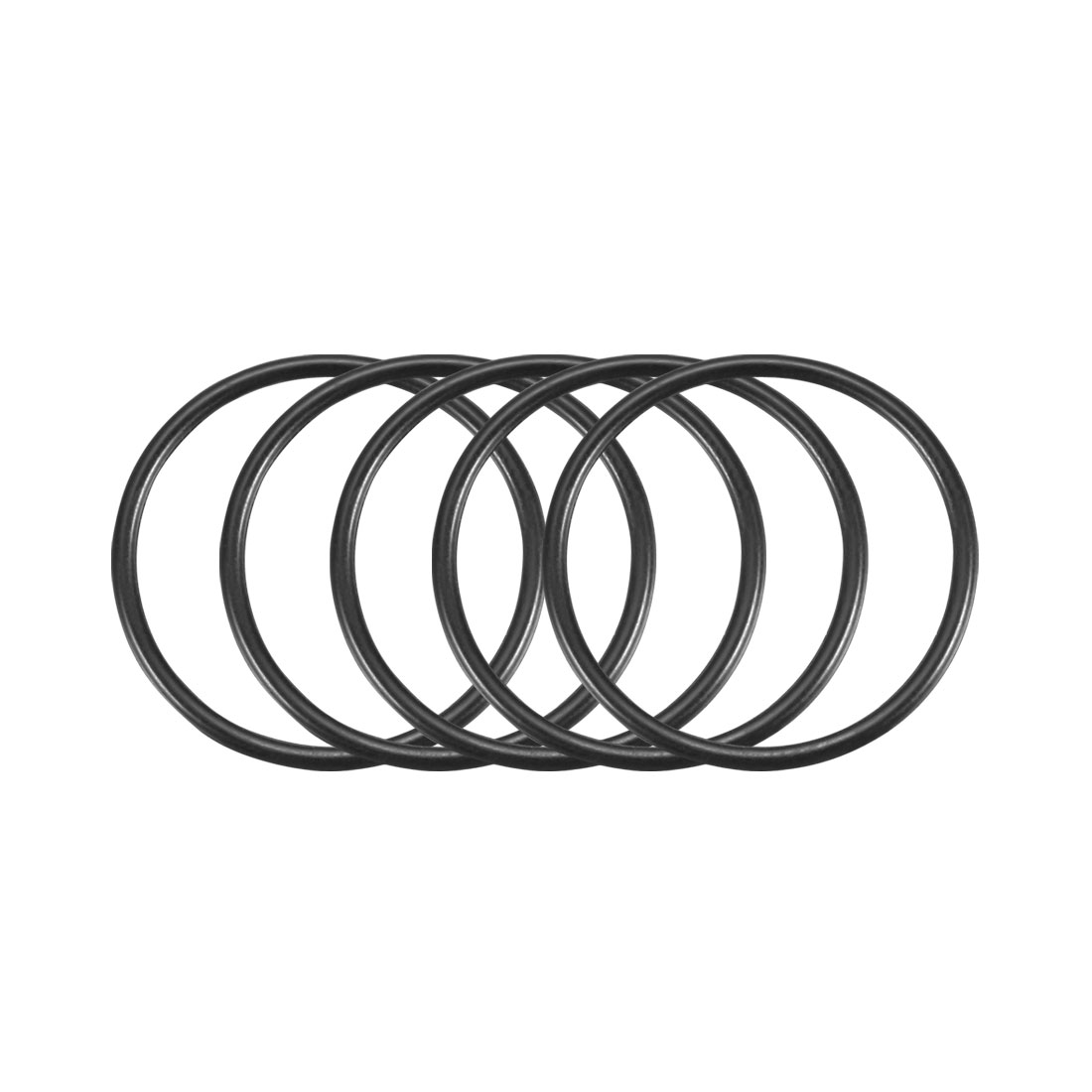 100Pcs Black 25mm x 1.5mm Nitrile Rubber O Ring NBR Oil Sealing Grommets