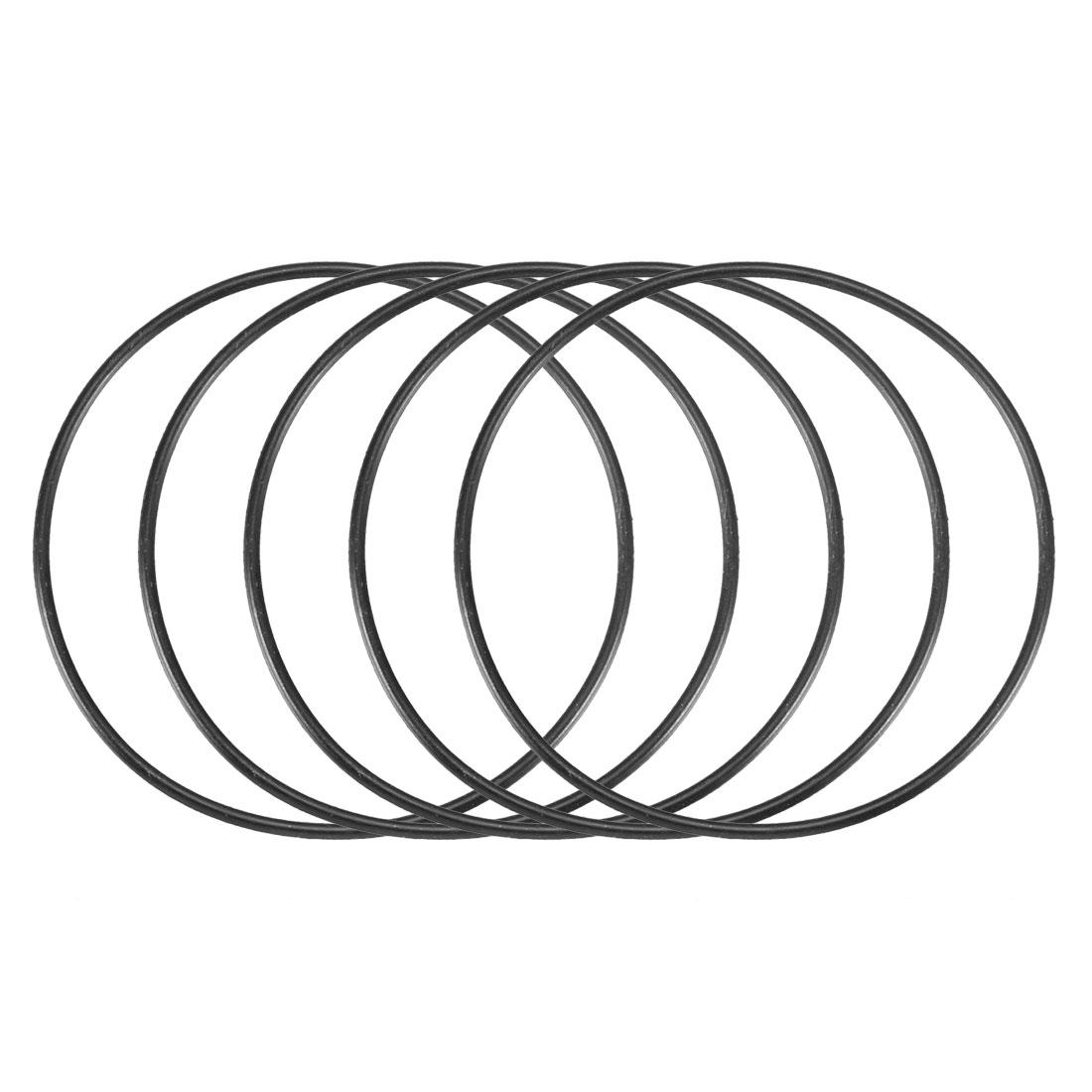 30 Pcs Black 56mm x 1.5mm Nitrile Rubber O Ring NBR Oil Sealing Grommets