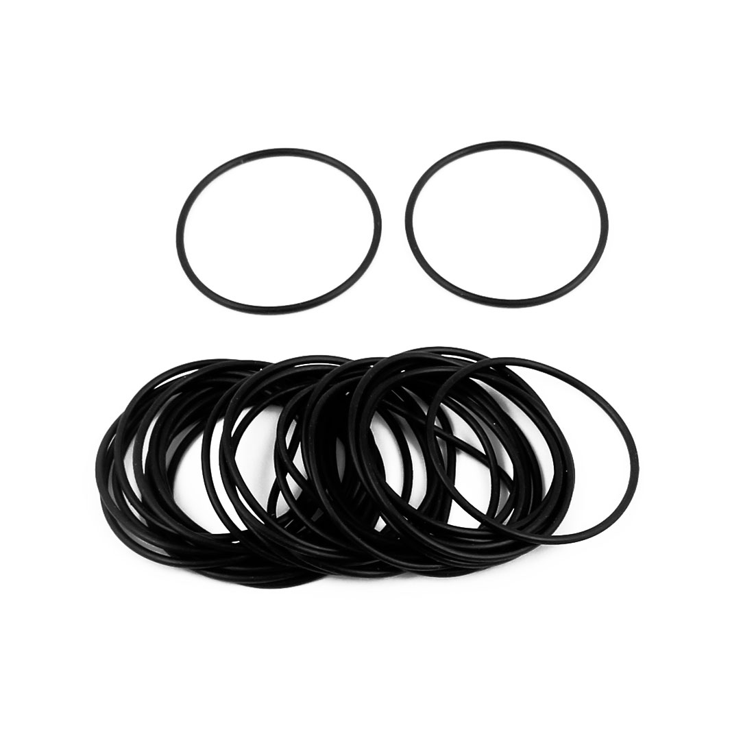 30 Pcs 37mm x 1.5mm Rubber O-rings NBR Heat Resistant Sealing Ring Grommets