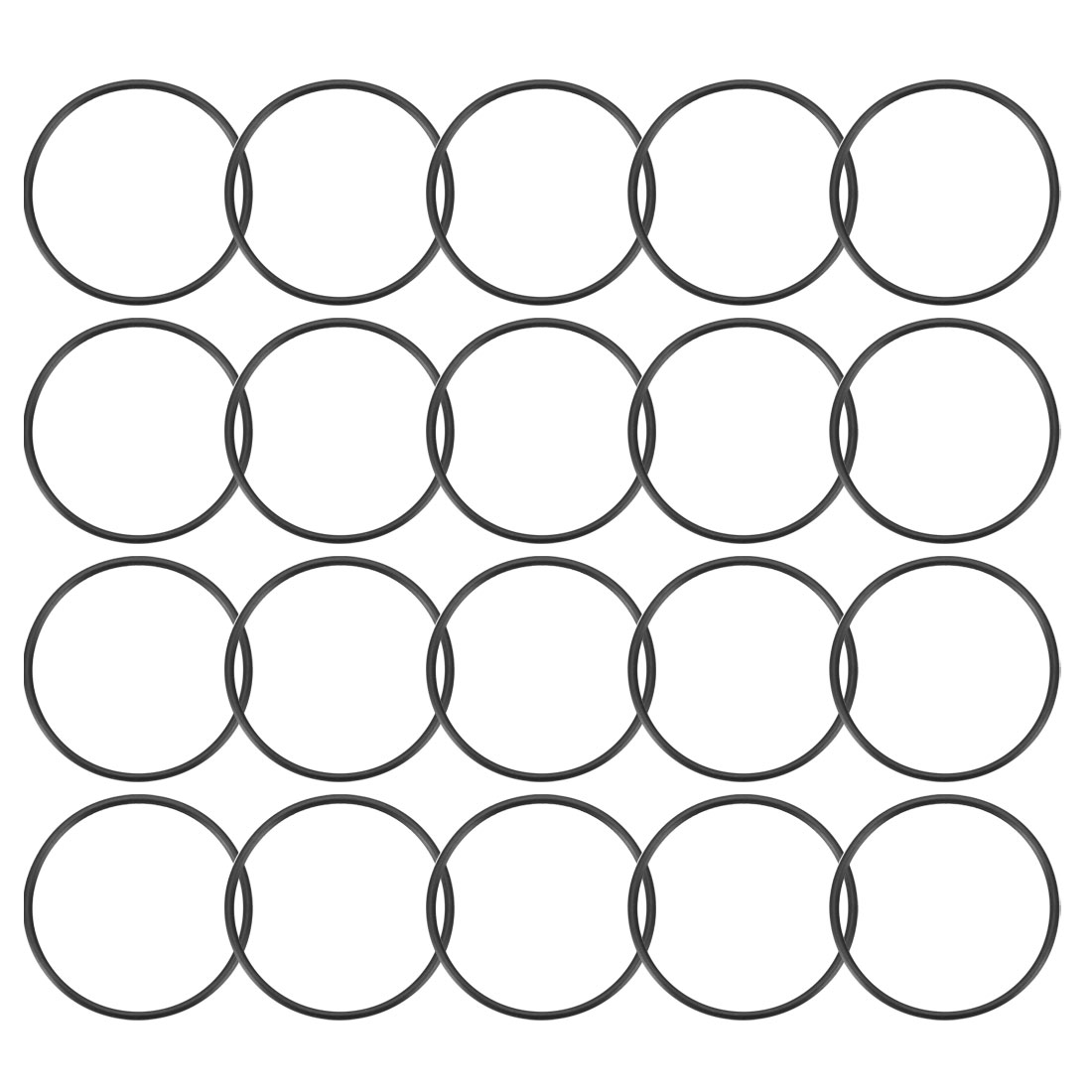 20 Pcs 34mm x 1.5mm Rubber O-rings NBR Heat Resistant Sealing Ring Grommets