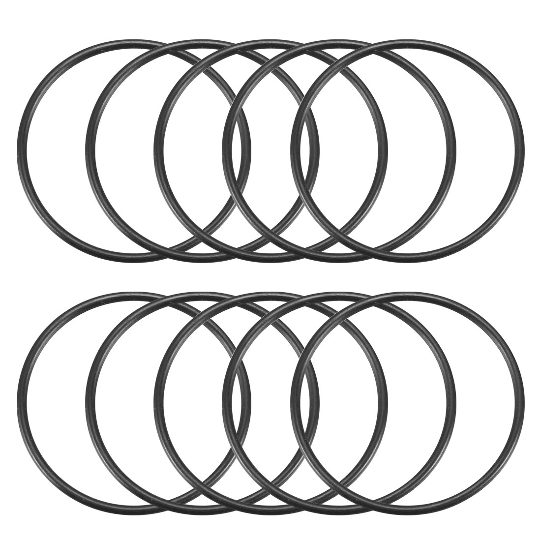 10 Pcs Black 33mm x 1.5mm Nitrile Rubber O Ring NBR Oil Sealing Grommets
