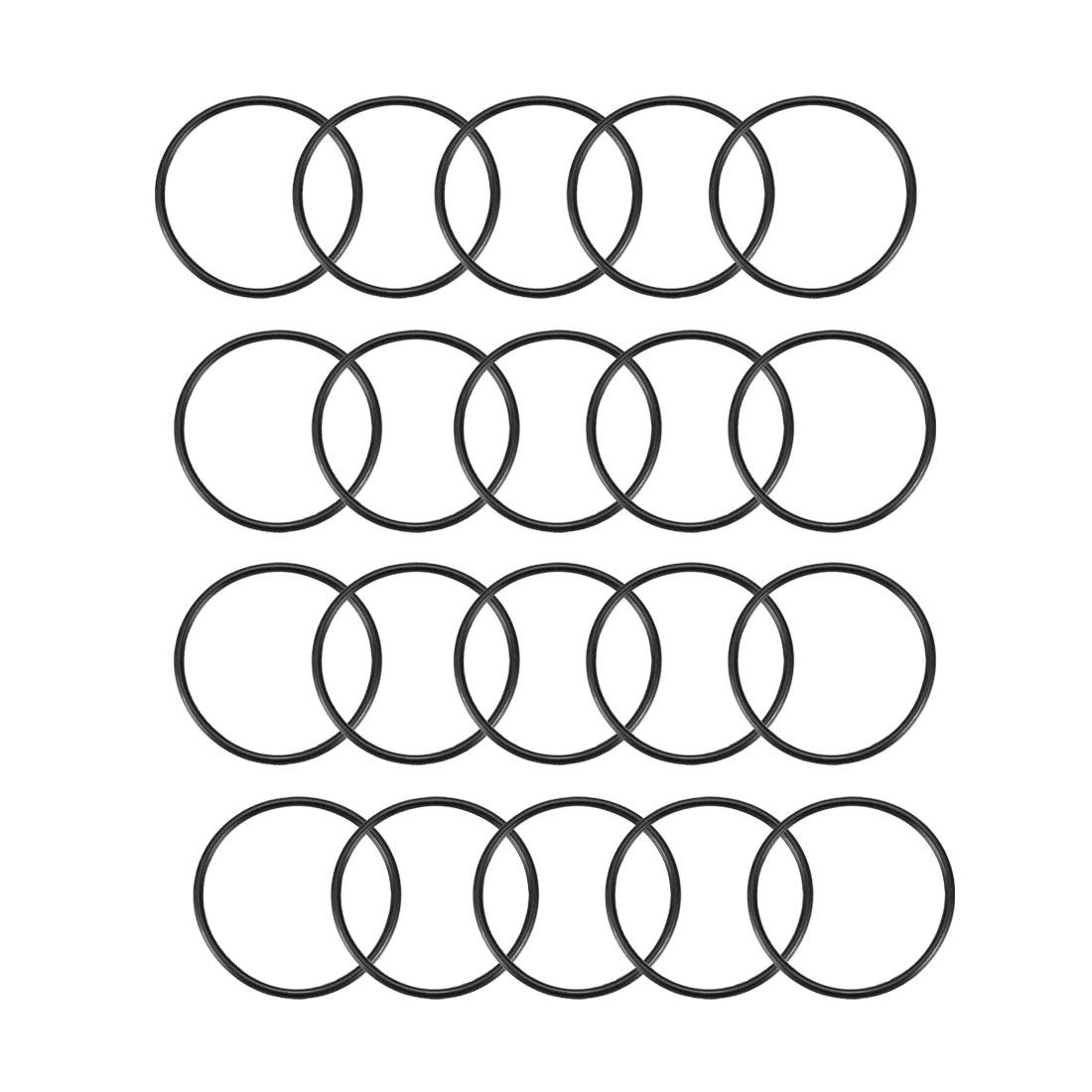 20 Pcs Black 30mm x 1.5mm Nitrile Rubber O Ring NBR Oil Sealing Grommets