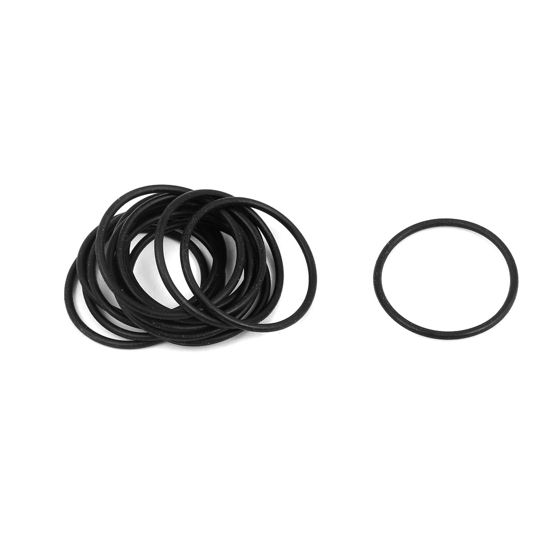 15 Pcs 26mm x 1.5mm Rubber O-rings NBR Heat Resistant Sealing Ring Grommets