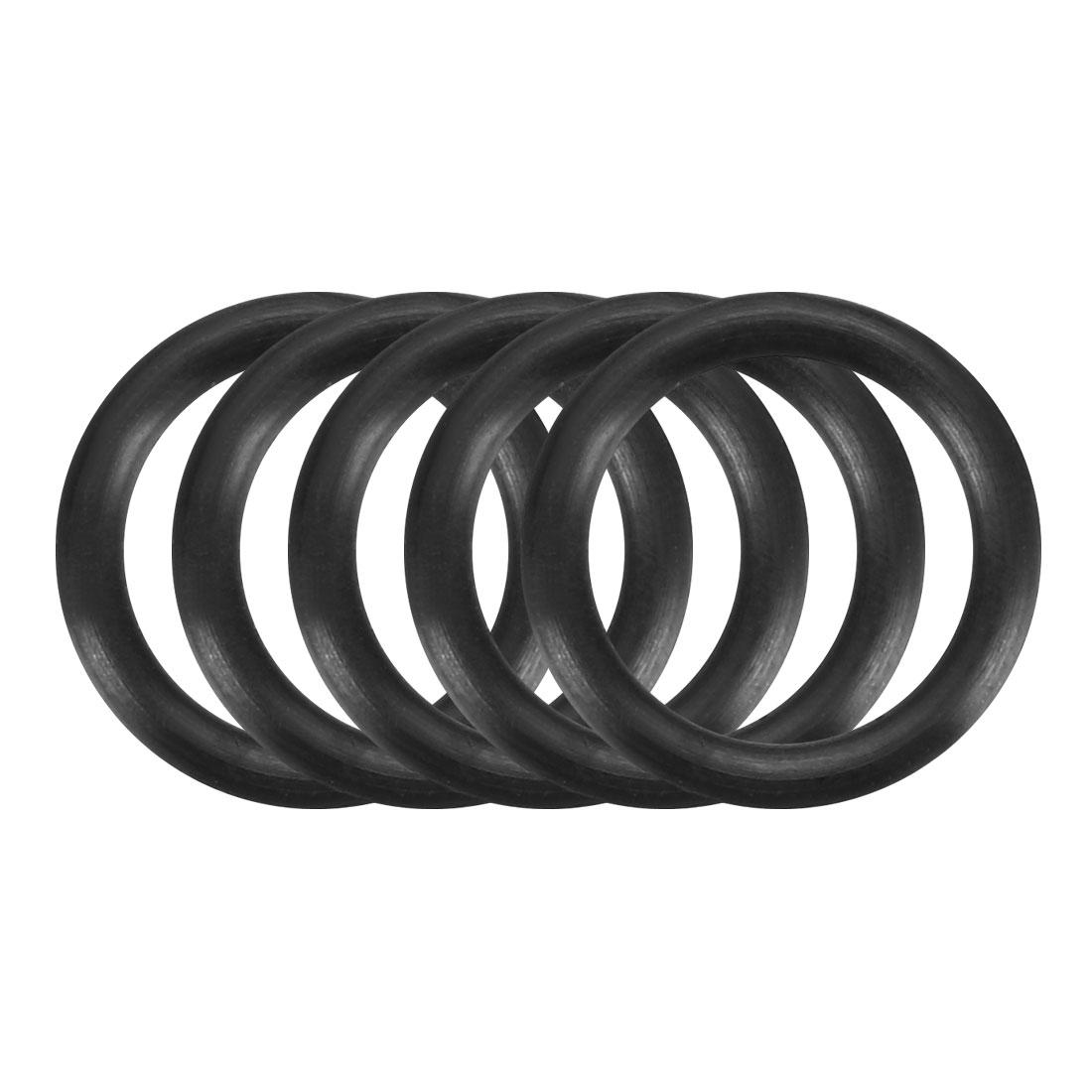 100Pcs Black 11mm x 1.5mm Nitrile Rubber O Ring NBR Oil Sealing Grommets