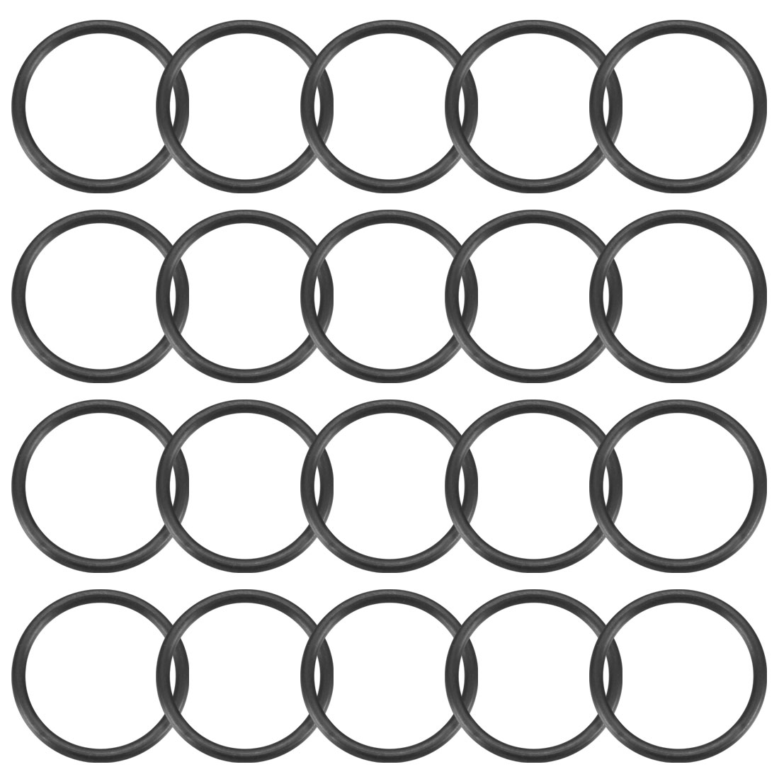 20 Pcs 17mm x 1.5mm Rubber O-rings NBR Heat Resistant Sealing Ring Grommets
