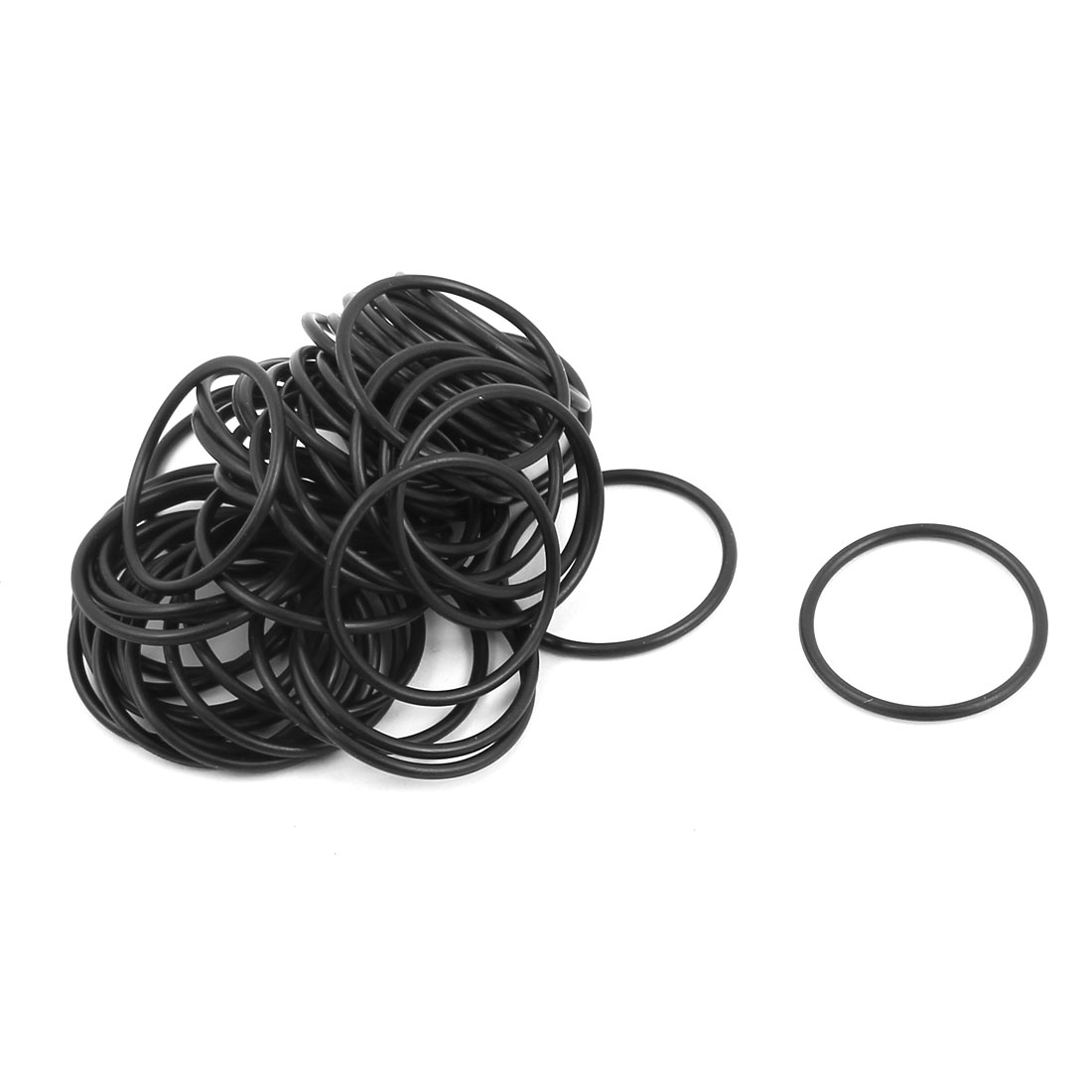 50 Pcs Black 24mm x 1.5mm Nitrile Rubber O Ring NBR Oil Sealing Grommets