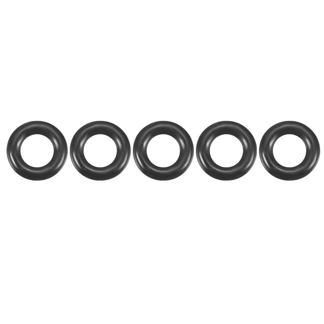 50Pcs Black 3mm x 0.8mm Nitrile Rubber O Ring NBR Oil Sealing Grommets