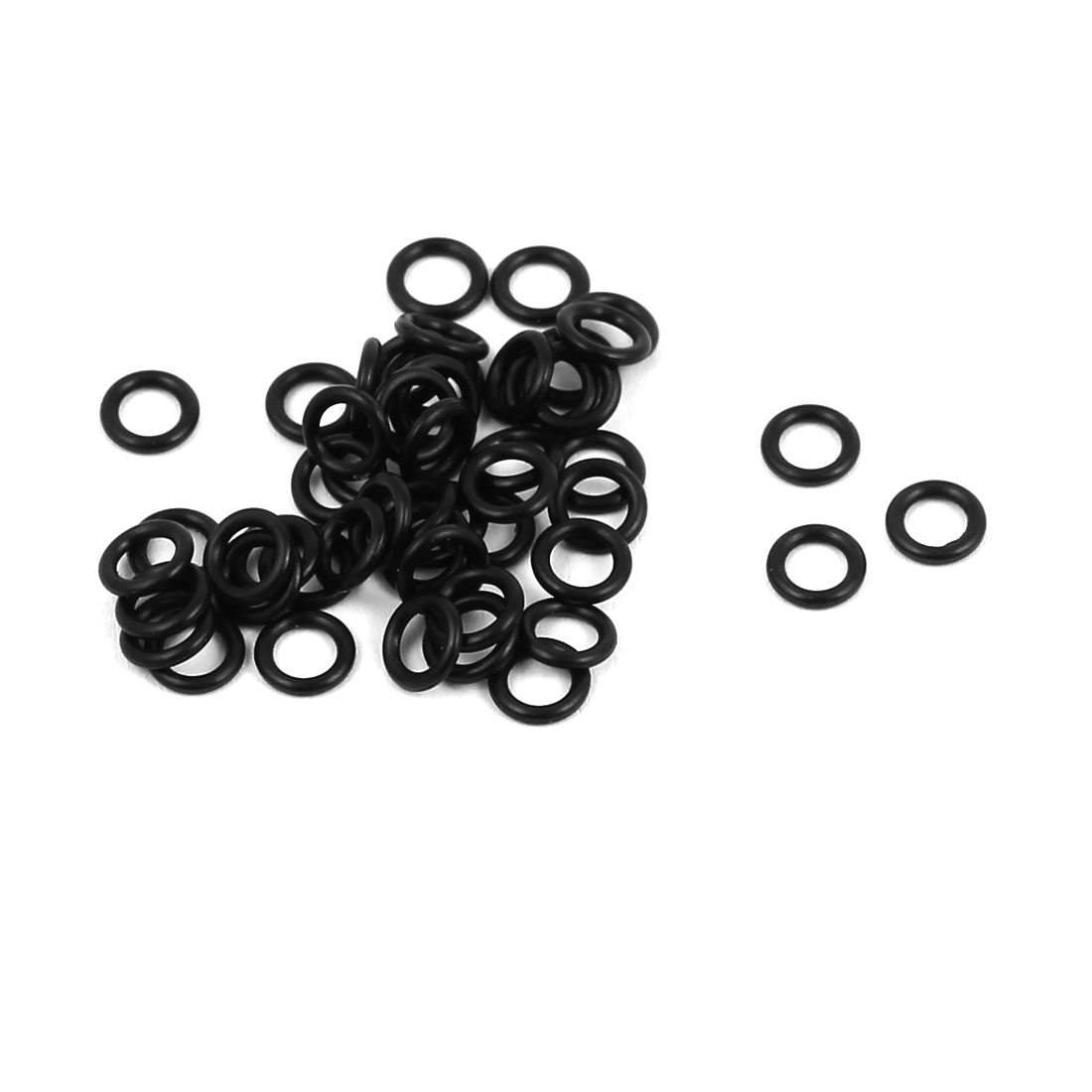 50Pcs Black 2.7mm x 0.8mm Nitrile Rubber O Ring NBR Oil Sealing Grommets
