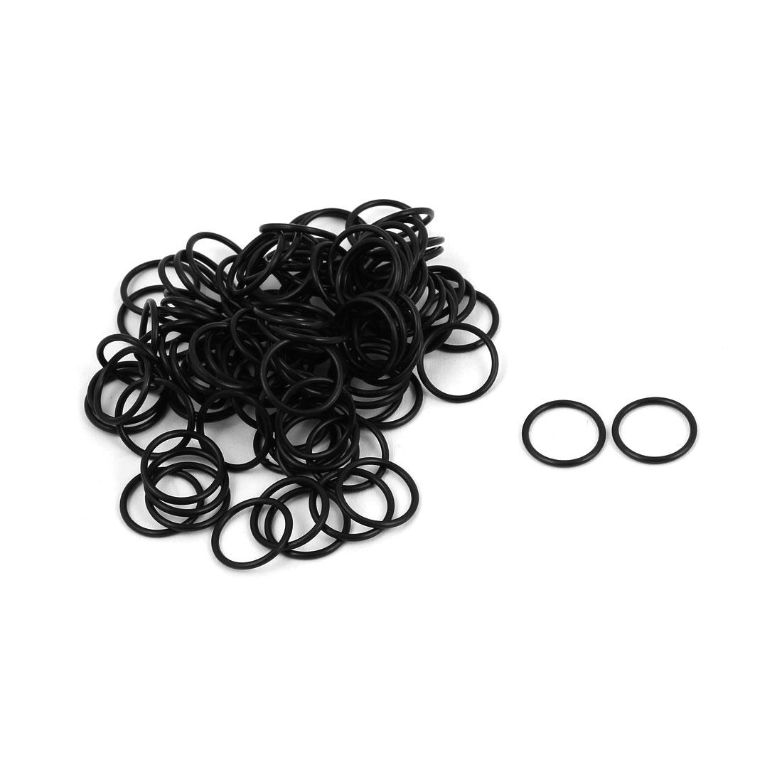 100Pcs Black 7.9mm x 0.8mm Nitrile Rubber O Ring NBR Oil Sealing Grommets