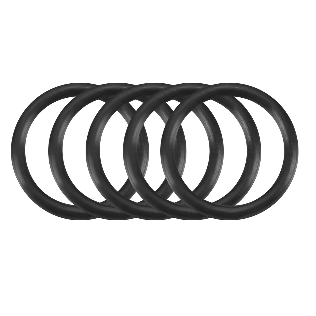 50Pcs Black 11mm x 1.2mm Nitrile Rubber O Ring NBR Oil Sealing Grommets