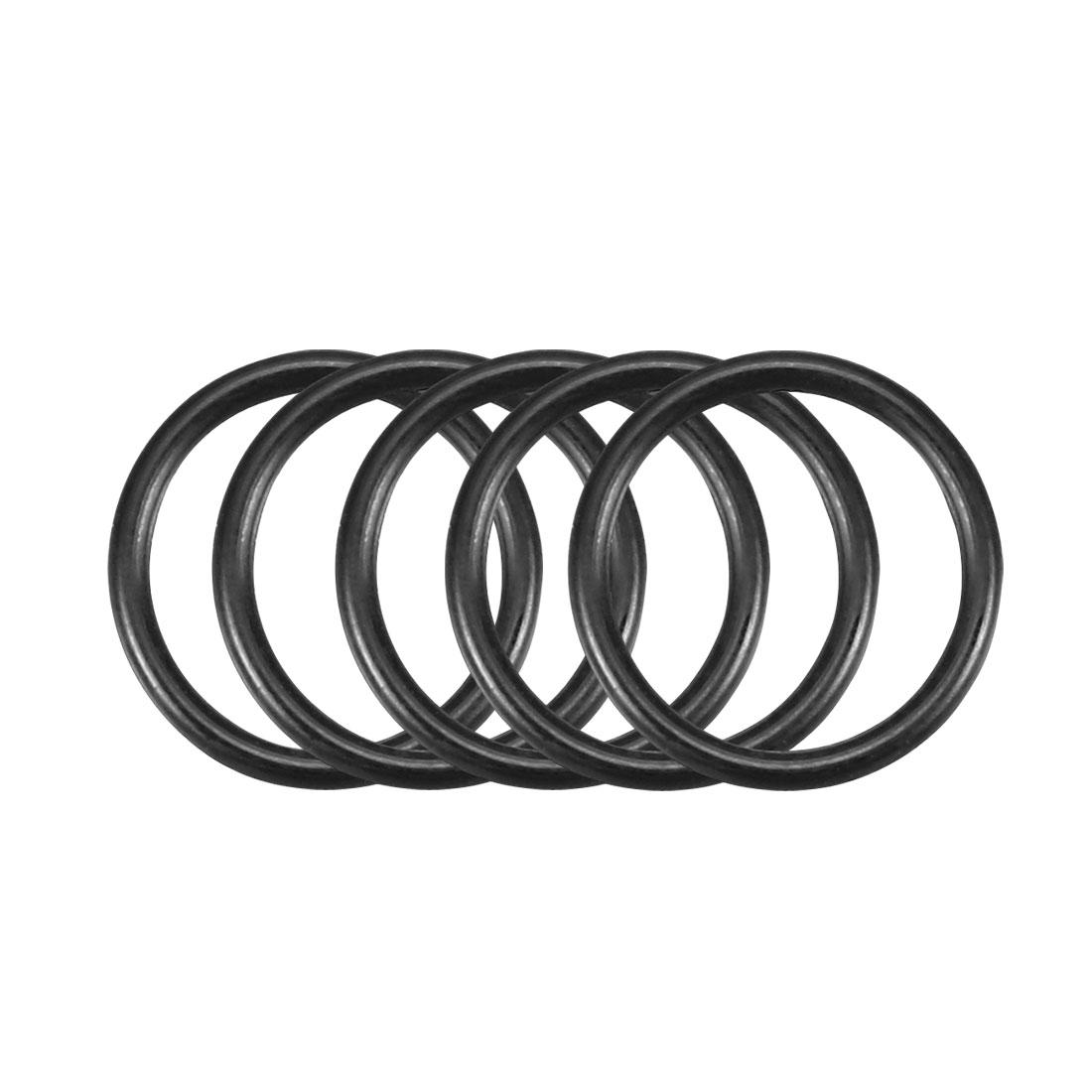 50Pcs Black 10mm x 1mm Nitrile Rubber O Ring NBR Oil Sealing Grommets