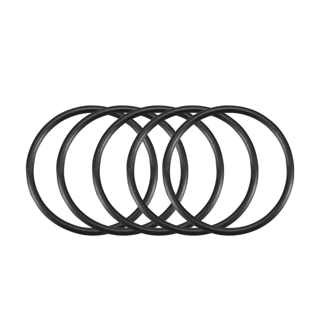 50Pcs Black 17mm x 1mm Nitrile Rubber O Ring NBR Oil Sealing Grommets