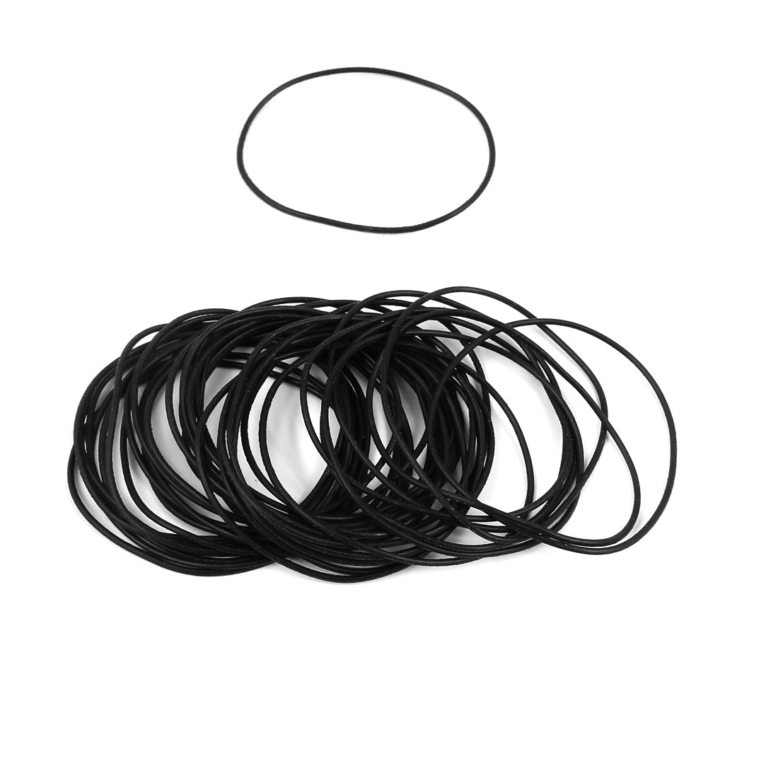 50Pcs Black 40mm x 1mm Nitrile Rubber O Ring NBR Oil Sealing Grommets