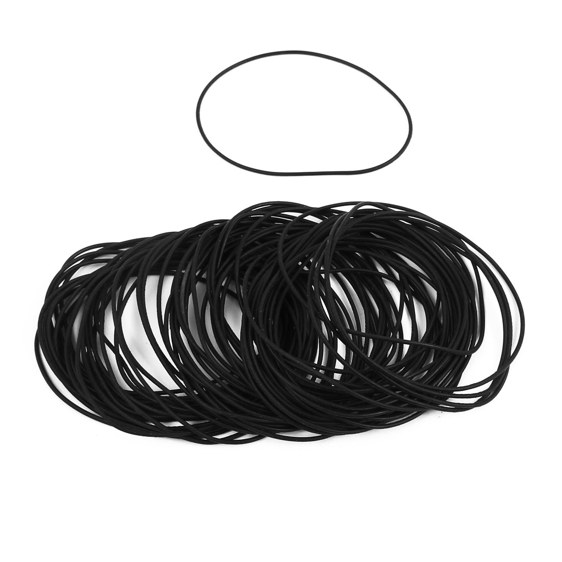 100Pcs Black 46mm x 1mm Nitrile Rubber O Ring NBR Oil Sealing Grommets