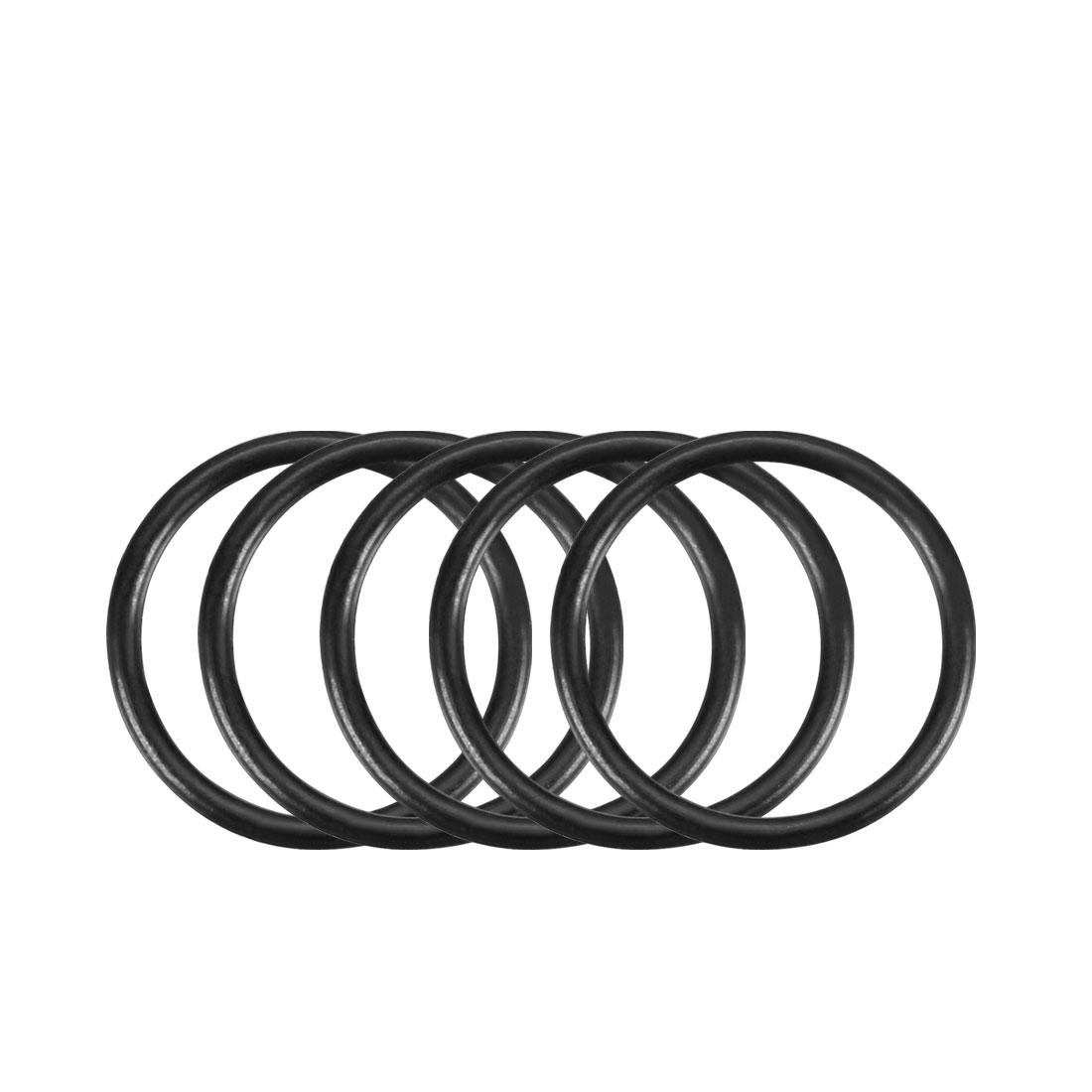 100Pcs Black 12mm x 1mm Nitrile Rubber O Ring NBR Oil Sealing Grommets