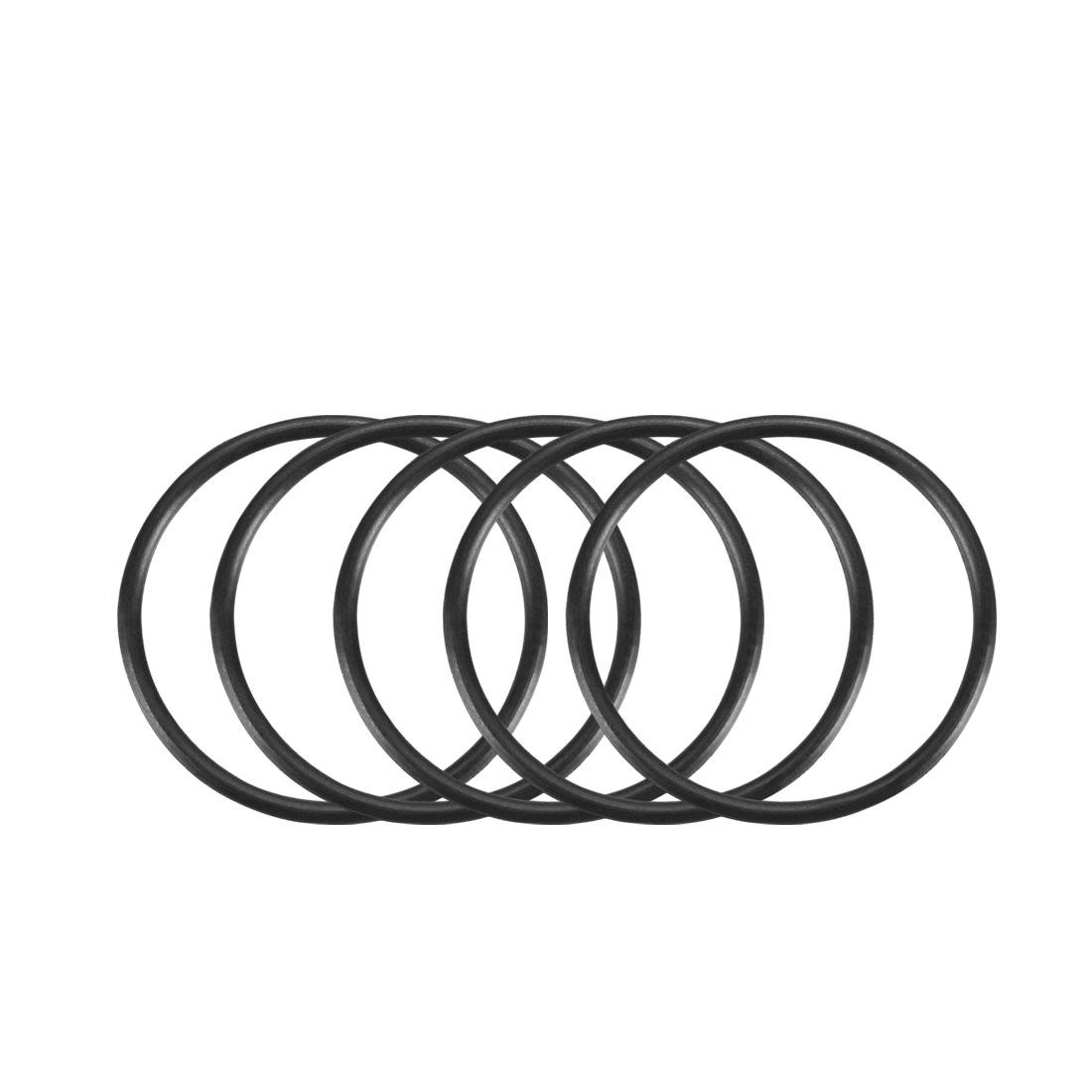 100Pcs Black 18mm x 1mm Nitrile Rubber O Ring NBR Oil Sealing Grommets
