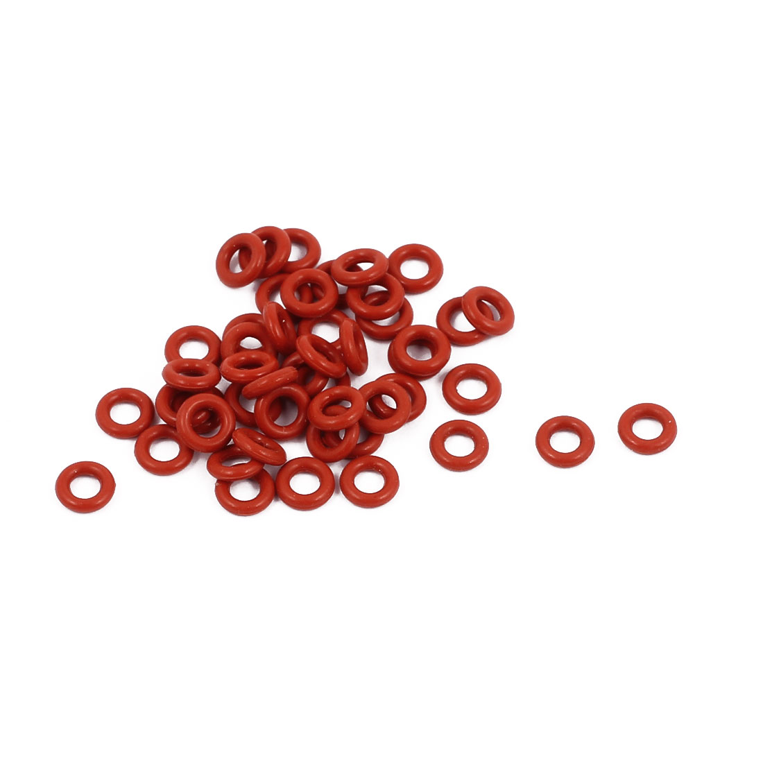 50Pcs 4mm x 1mm Rubber O-rings NBR Heat Resistant Sealing Ring Grommets Red
