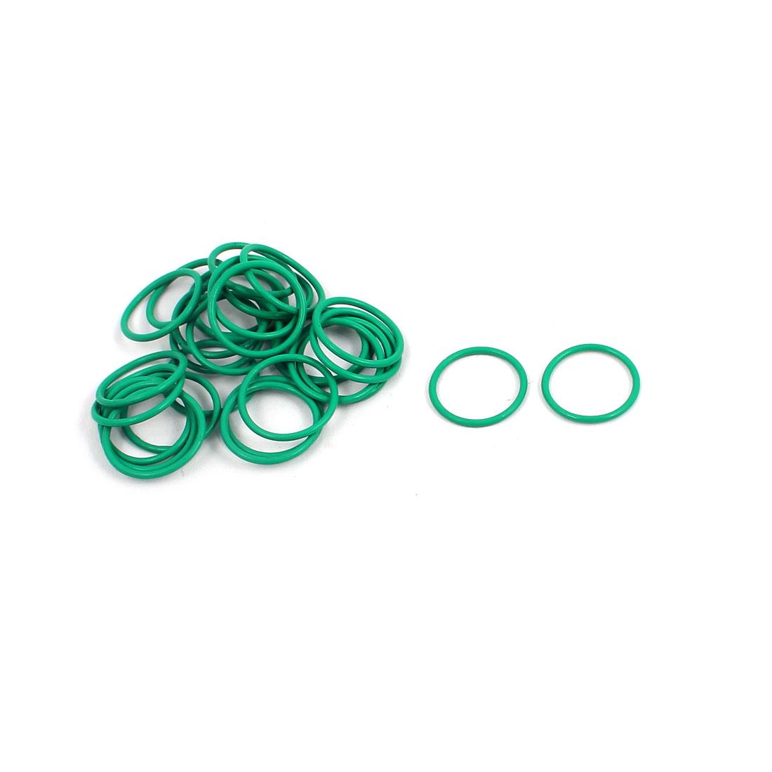 30Pcs 13mm x 1mm FKM O-rings Heat Resistant Sealing Ring Grommets Green