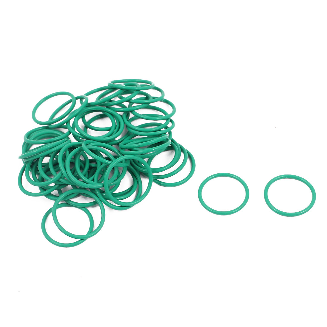 50Pcs 13mm x 1mm FKM O-rings Heat Resistant Sealing Ring Grommets Green