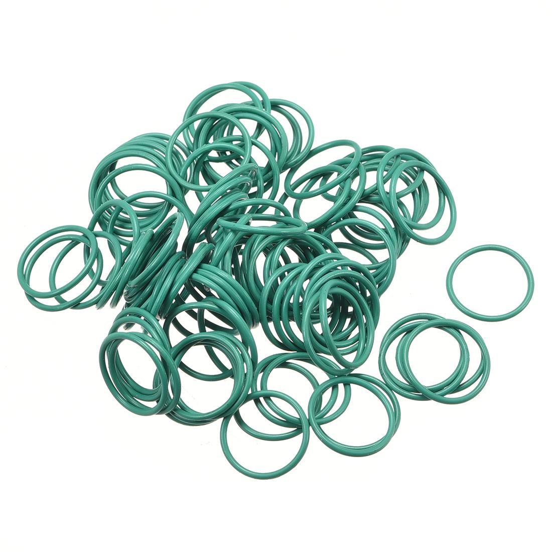 100Pcs 13mm x 1mm FKM O-rings Heat Resistant Sealing Ring Grommets Green