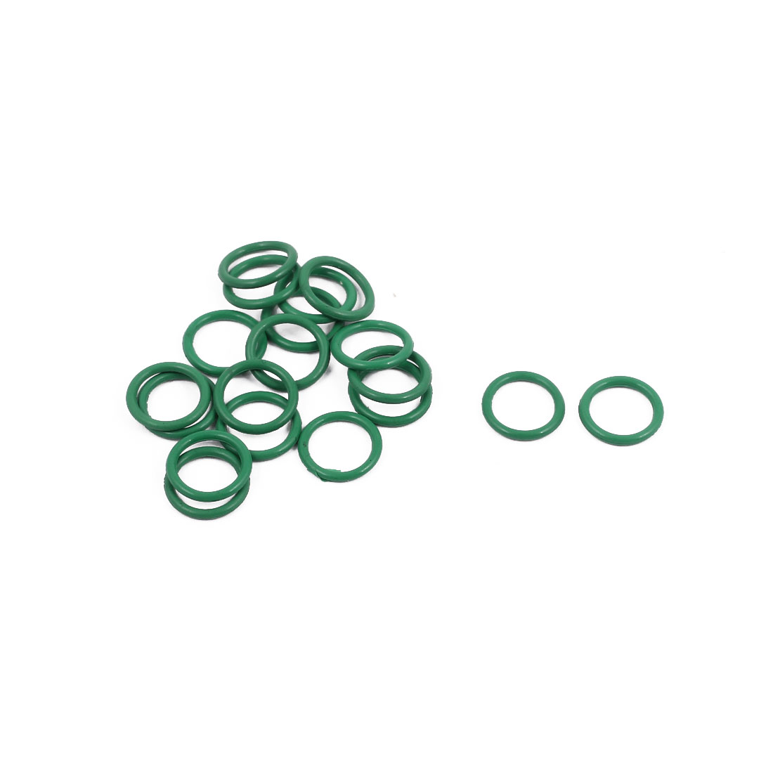 20Pcs 8mm x 1mm FKM O-rings Heat Resistant Sealing Ring Grommets Green