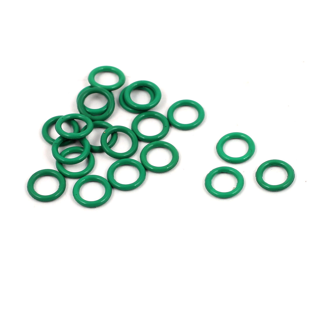 20Pcs 6mm x 1mm FKM O-rings Heat Resistant Sealing Ring Grommets Green