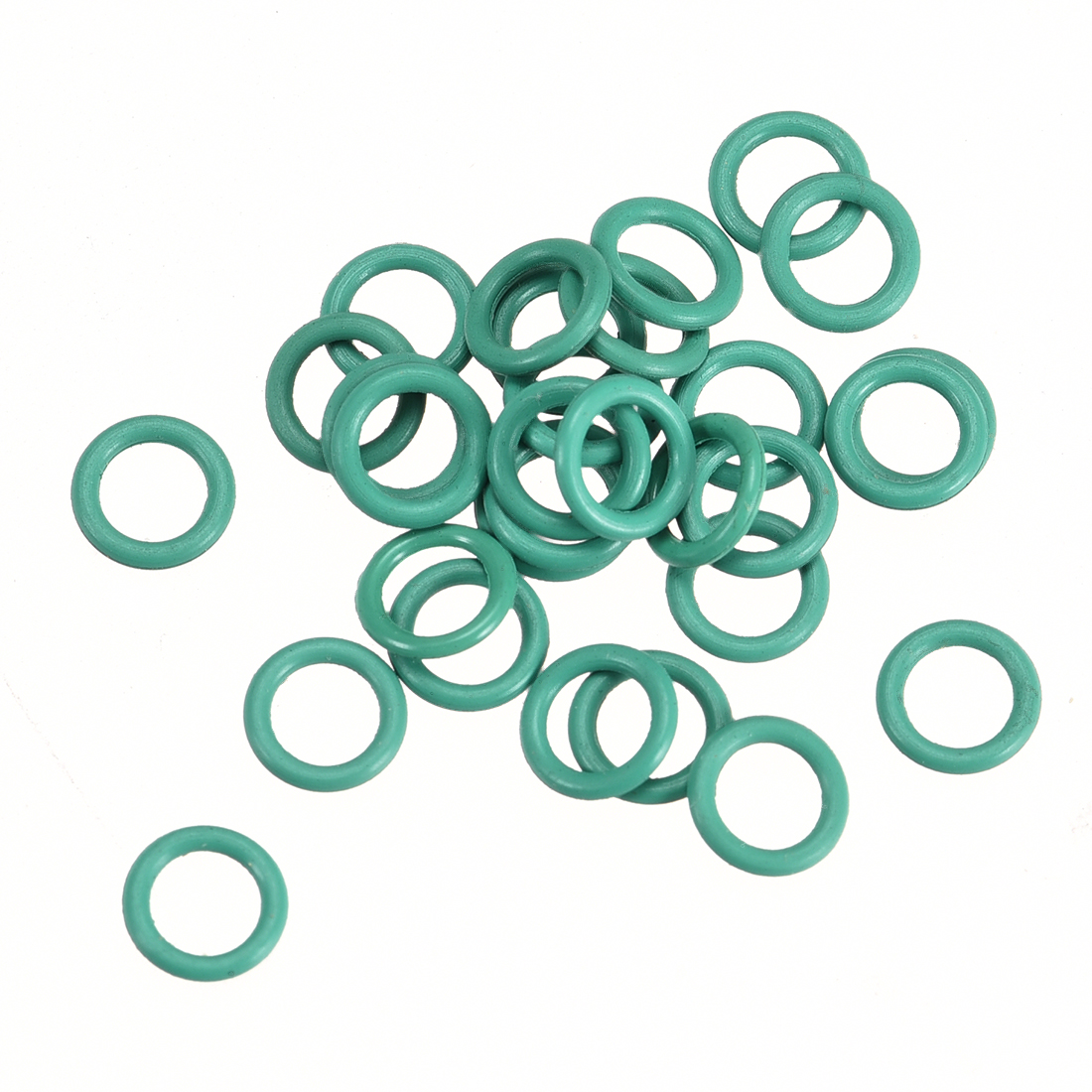 30Pcs 6mm x 1mm FKM Rubber O-rings Heat Resistant Sealing Ring Grommets Green