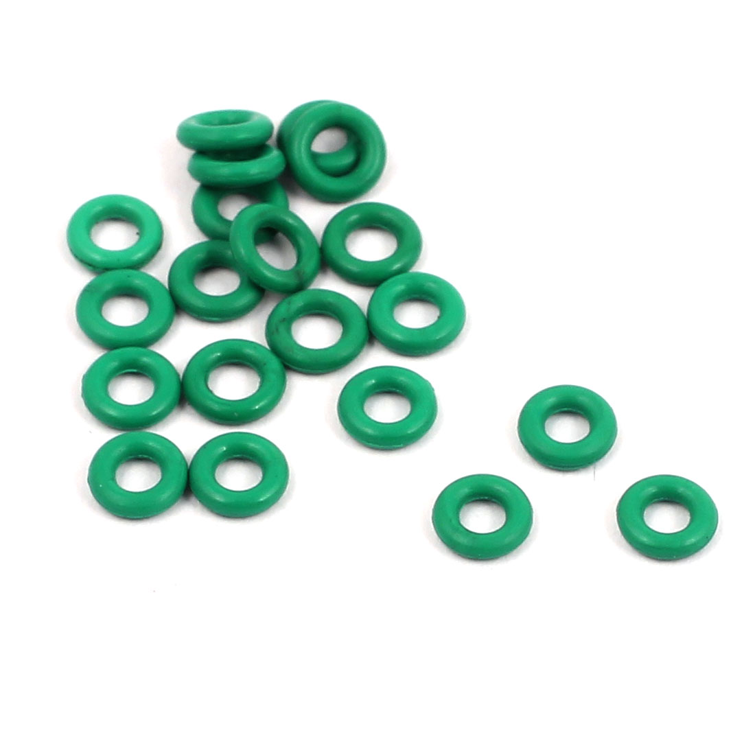 20Pcs 4mm x 1mm FKM Rubber O-rings Heat Resistant Sealing Ring Grommets Green