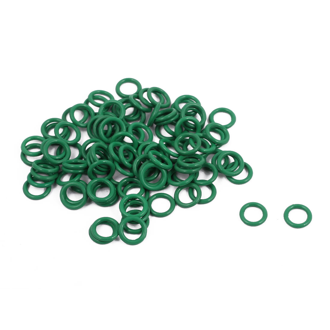 100Pcs 6mm x 1mm FKM O-rings Heat Resistant Sealing Ring Grommets Green