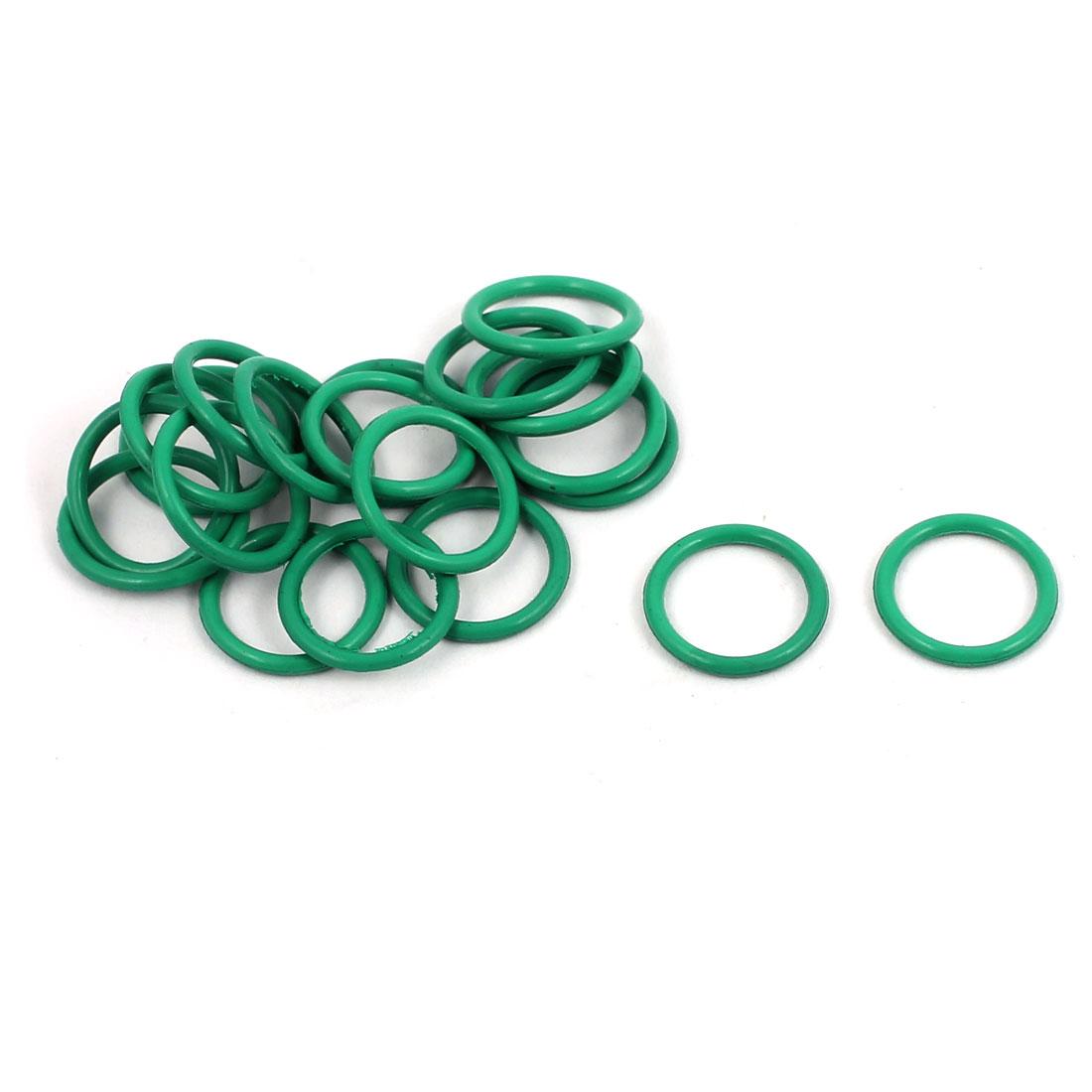 20Pcs 9mm x 1mm FKM O-rings Heat Resistant Sealing Ring Grommets Green