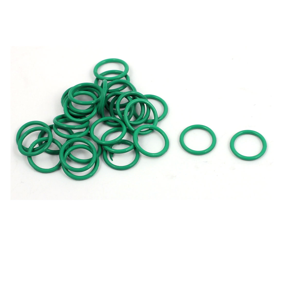 30Pcs 9mm x 1mm FKM O-rings Heat Resistant Sealing Ring Grommets Green