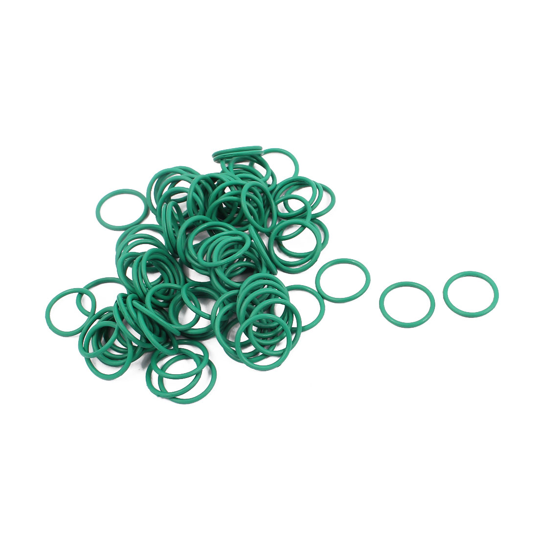 100Pcs 11mm x 1mm FKM O-rings Heat Resistant Sealing Ring Grommets Green