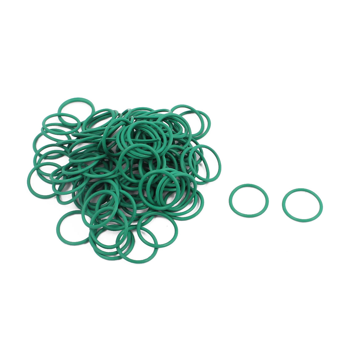100Pcs 12mm x 1mm FKM O-rings Heat Resistant Sealing Ring Grommets Green