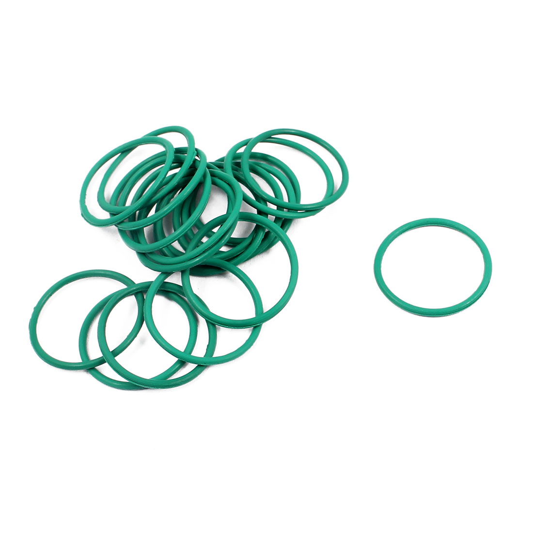 20Pcs 15mm x 1mm FKM Fluoro RubberO-rings Heat Resistant Sealing Ring Grommets
