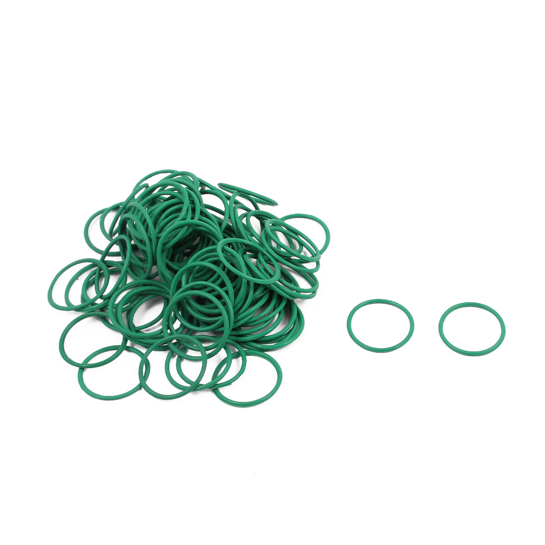 100Pcs 15mm x 1mm FKM Nitrile Rubber O-rings Heat Resistant Sealing Ring Grommets Green