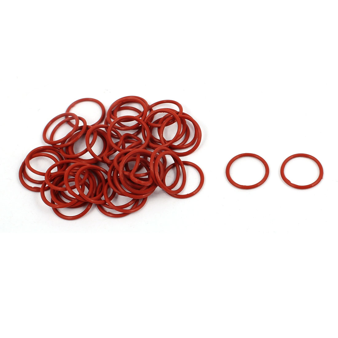 50Pcs 12mm x 1mm Rubber O-rings NBR Heat Resistant Sealing Ring Grommets Red