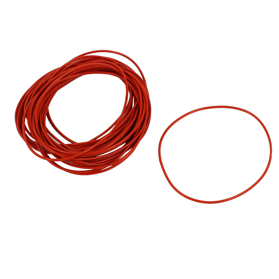 30Pcs 48mm x 1mm Rubber O-rings NBR Heat Resistant Sealing Ring Grommets Red