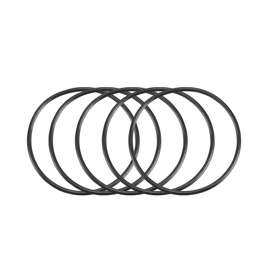 100Pcs Black 28mm x 1mm Nitrile Rubber O Ring NBR Oil Sealing Grommets